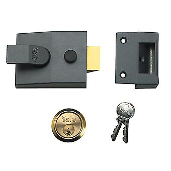 Yale YAL89DMGSC 89 Impasse Nightlatch DMG Cetim Chrome Cylinder 60mm Backset