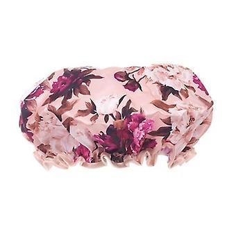 Danielle Creations Burgundy Vintage Floral Blush Shower Cap