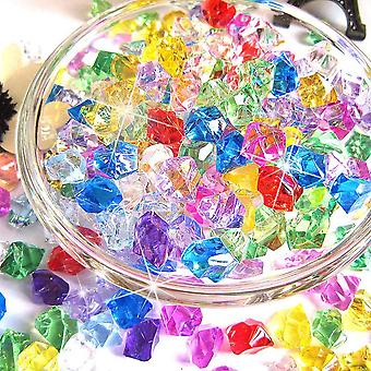 400pcs Plastic Gems Ice Grains Colorful Small Stones- Jewels Acrylic Gems
