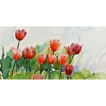 Tulipani Poster trykk av Murenoir