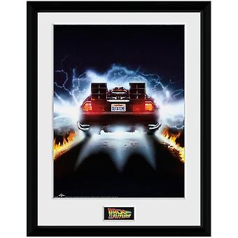 Back To The Future Delorean Framed Poster