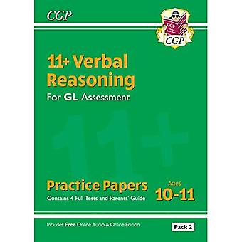 New 11+ GL Verbal Reasoning Practice Papers: Ages 10-11 - Pack 2 (with� Parents' Guide & Online Ed)
