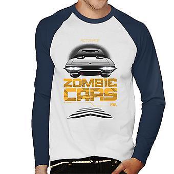 Nopea ja raivoisa Aktivoida Zombie Cars Men's Baseball Pitkähihainen T-paita