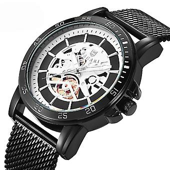 BAGARI 1688 Casual Style Mechanical Appearance Quartz Watches Mesh Steel Men