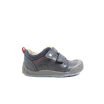 Startrite Super Soft Beatle-bug Navy Leather Boys Rip Tape Shoes