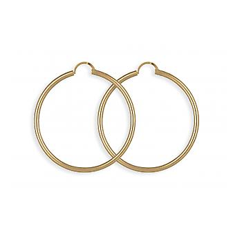 Creole Plated Gold 50mm Round Wire thickness 2.50mm