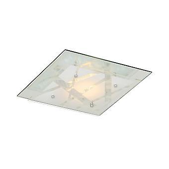 Italux Mertu - Klassische LED Flush Deckenleuchte Weiß, Warm weiß 3000K 560lm