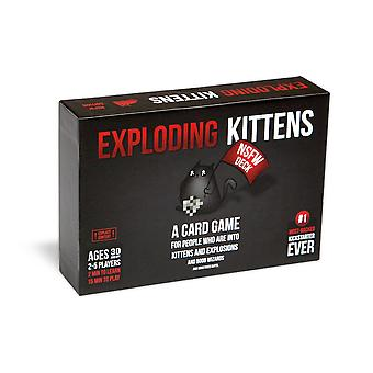 Exploding kittens card game - nsfw (explicit) edition - family-friendly party games - card games for