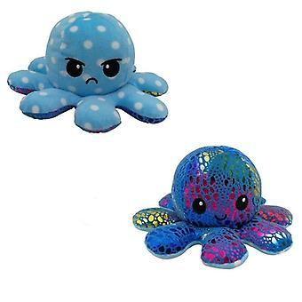 Double-sided Octopus Plush Toy, Reversible Pillow