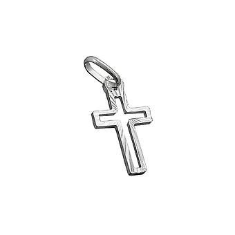 Anhänger Kreuz Diamant geschnitten Silber 925