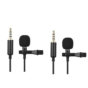Mini Portable Clipon Lapel Lavalier Condenser Mic Wired Microphone