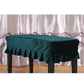 Piano Double Stool Dust Cover Green Protective   Lace Design Dustproof   Scratch Resistant