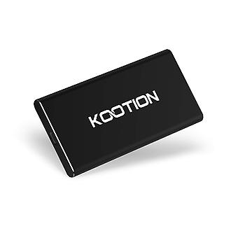 Kootion 500gb portable external ssd read/write speed up to 500mb/s & 450mb/s high speed transfer usb