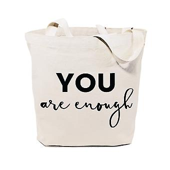 You Are Enough-cotton Canvas Tote Bag