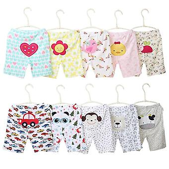 Cartoon Print Baby Shorts, Cotton Baby Summer Unissex Pants