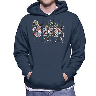 Jeep Splattered Logo Men's Hooded Sweatshirt