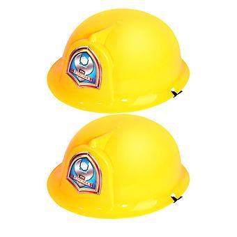 2pcs Simulatie Fire Hats Kids Role-play Helm Veiligheid Fun Cosplay Prop