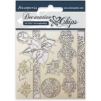 Stamperia Decorative Chips Winter