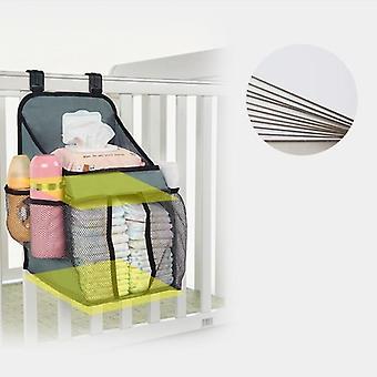 Vauvansängyn järjestäjä roikkuu säilytyspussi essentials vuodevaatteet vaippa