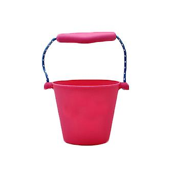 Children Bath Beach Silicone Folding Hand Bucket