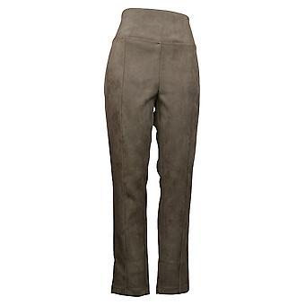 أندرو مارك Leggings المرأة & ق مدبب الساق مزدوجة غرزة طبقات براون