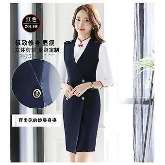 Stewardess Uniforms Vest Dresses Autumn Winter Aerospace Beautician Overalls