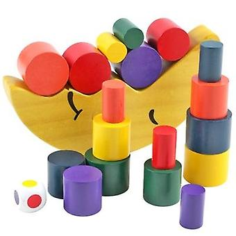 Forest Animal Seesaw Building Blocks Wooden Balance Wood Toy