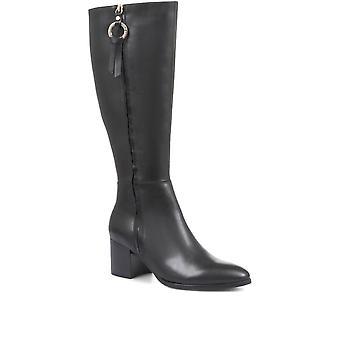 Regarde Le Ciel Womens Taylor-16 Block Heel Knee High Boots