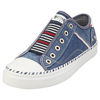 Mustang Low Top Sneakers Womens Casual Trainers em Jeans Blue