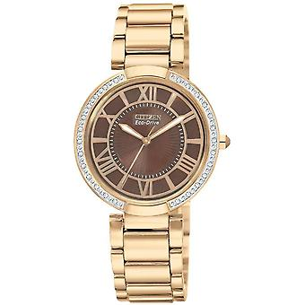 Borger (Open Box) Eco-Drive d Orsay Rose Gold Ladies Watch EM0103-57X