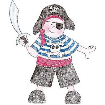 BH Pirate Boy Wood Mounted Stamp