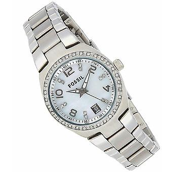Fossil Analog Women with metal plated stainless steel AM4141