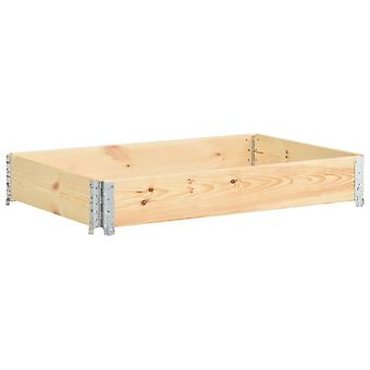 vidaXL Paletten-Aufsatzrahmen 50×150 cm Kiefern-Massivholz