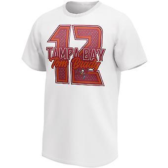 Том Брэди #12 Тампа Бэй Баккэнирс НФЛ Графическая рубашка