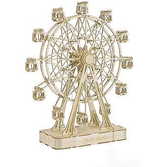 FengChun DIY Riesenrad Holzpuzzle 3D mit Musikbaustzen Mechanische Modellbaustze fr Erwachsene und