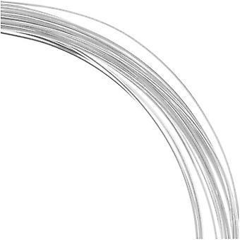 Den Beadsmith Ikke-Plette Sølvbelagt Kobber Halv runde Craft Perle Wire 21Ga (12Ft)