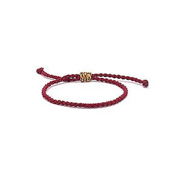 Benava - Tibetan Friendship Bracelet, handmade, adjustable and metal base, color: dark red, cod. 0054-Dunkelrot