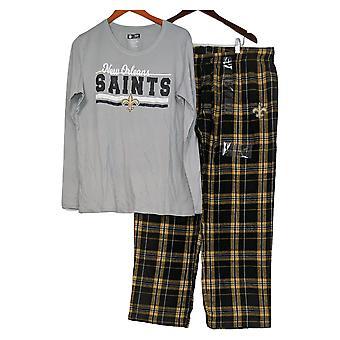 NFL Vrouwen Lange Mouw Top & Flanel Broek Grijze Pyjama Set
