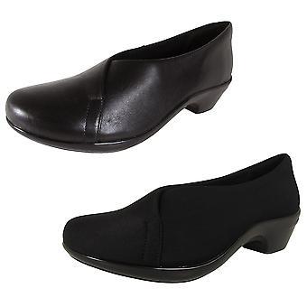 Aravon Womens Kitt Asym Slip On Pump Shoes