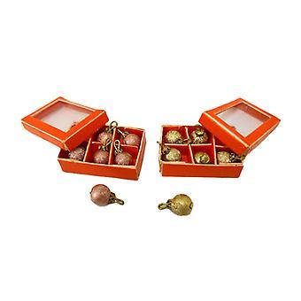 Dolls House 2 Dozen Kerstballen Decoraties Miniatuur Xmas Accessoire