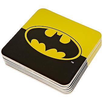 Batman Classic Logo Color Block 6pc Paper Coaster Set