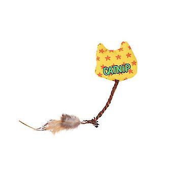 2 Adet sarı tuval catnip tüy komik kedi oyuncak düğümleri az5248