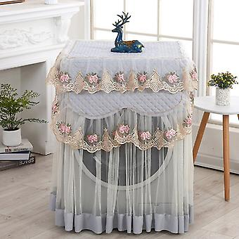 Lace Ruffle Floral Washing Machine Dust Cover
