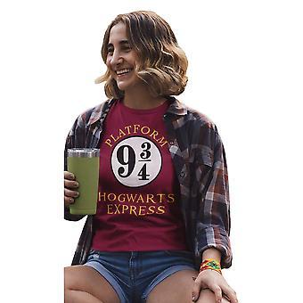 Harry Potter Womens/Ladies Hogwarts Express Boyfriend T-Shirt