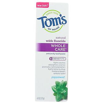 Tom's Of Maine Wholecare Toothpaste, Peppermint 4 Oz