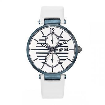 Montre femme Jean Paul Gaultier - 8507201 - Bracelet cuir blanc