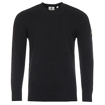 Lyle & Scott Shoulder Detail Crew Neck Knit Sweater - Black