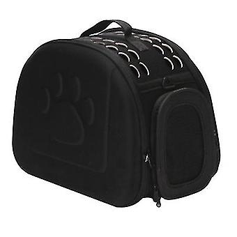 L 42 * 35 * 26cm أسود في الهواء الطلق المحمولة حقيبة القط الحيوانات الأليفة قابلة للطي az13026