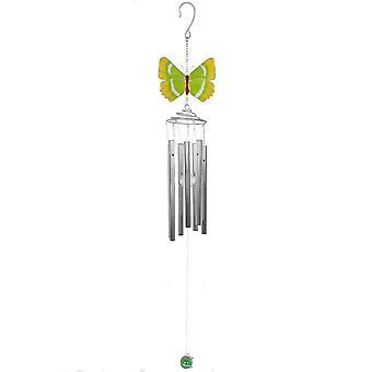 Green Hairstreak Butterfly Windchime by Jones Home & Gift