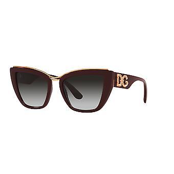 Dolce&Gabbana DG6144 32858G Transparente Bordeaux/Gradient Grey Sonnenbrille